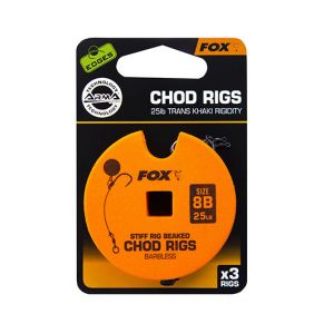 FOX Edge Armapoint stiff rig beaked Chod rigs x 3 standard barbless