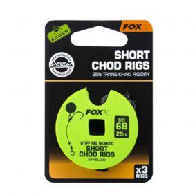 FOX Edge Armapoint stiff rig beaked Chod rigs x 3 SHORT barbless